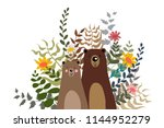 bear teddy  bear polar with... | Shutterstock .eps vector #1144952279
