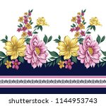 traditional horizontal  flower... | Shutterstock .eps vector #1144953743