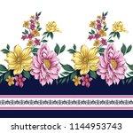 traditional horizontal  flower...   Shutterstock .eps vector #1144953743