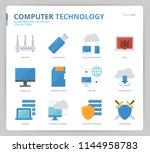 computer network icon set | Shutterstock .eps vector #1144958783