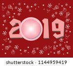 merry christmas and happy new... | Shutterstock .eps vector #1144959419