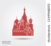 saint basil cathedral in red... | Shutterstock .eps vector #1144968053
