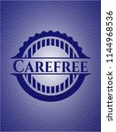 carefree emblem with jean... | Shutterstock .eps vector #1144968536