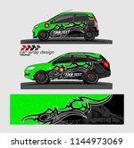 car wrap design vector.... | Shutterstock .eps vector #1144973069