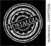 nostalgia written on a... | Shutterstock .eps vector #1144975106