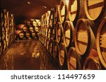 Wine Barrels In Cellar....