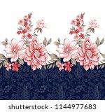 horizontal flower border | Shutterstock .eps vector #1144977683