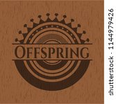 offspring badge with wooden... | Shutterstock .eps vector #1144979426