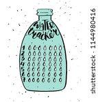 weekly habit tracker blank with ... | Shutterstock .eps vector #1144980416