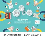 business meeting and... | Shutterstock .eps vector #1144981346