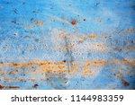 the material floor is rusty old ... | Shutterstock . vector #1144983359