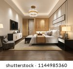 3d rendering luxury modern... | Shutterstock . vector #1144985360