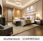 3d rendering luxury modern... | Shutterstock . vector #1144985363