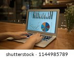 investment portfolio and... | Shutterstock . vector #1144985789