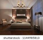 3d rendering beautiful luxury... | Shutterstock . vector #1144985813