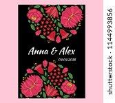 autumn wedding save the date... | Shutterstock .eps vector #1144993856