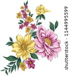 traditional flower bunch | Shutterstock .eps vector #1144995599