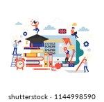 online education  training... | Shutterstock .eps vector #1144998590