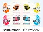 set of design of brochure ... | Shutterstock .eps vector #1144999949