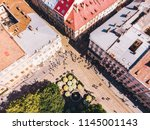 aerial view of city streets.... | Shutterstock . vector #1145001143