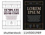 vector template. advertisements ...   Shutterstock .eps vector #1145001989