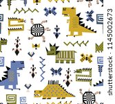 childish seamless pattern with... | Shutterstock .eps vector #1145002673