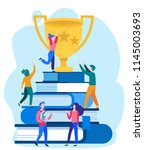 concept distance learning ... | Shutterstock .eps vector #1145003693