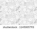vector time pattern. time... | Shutterstock .eps vector #1145005793