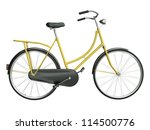 Yellow Bicycle Isolated On...