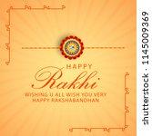 illustration of raksha bandhan... | Shutterstock .eps vector #1145009369