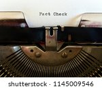 fact check  heading title... | Shutterstock . vector #1145009546