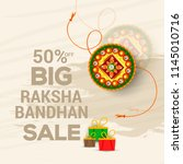 rakhi sale poster banner... | Shutterstock .eps vector #1145010716