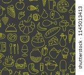 food doodles hand drawn sketchy ...   Shutterstock .eps vector #1145013413