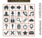 web icons set on white... | Shutterstock .eps vector #1145015153
