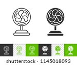 blower black linear and...   Shutterstock .eps vector #1145018093