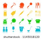 kitchenware silhouette icons... | Shutterstock .eps vector #1145018120