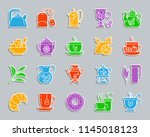 tea attributes silhouette... | Shutterstock .eps vector #1145018123