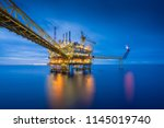 offshore oil and gas central... | Shutterstock . vector #1145019740