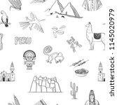 vector seamless pattern of peru....   Shutterstock .eps vector #1145020979