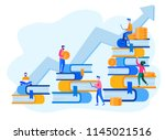 concept for web page  banner ... | Shutterstock .eps vector #1145021516