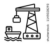 shipment vector icon port sea... | Shutterstock .eps vector #1145028293