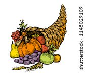 Cornucopia  Horn Of Plenty Wit...