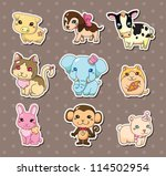 animal stickers | Shutterstock .eps vector #114502954