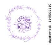 the lavender elegant frame with ...   Shutterstock .eps vector #1145031110