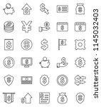 thin line vector icon set  ...   Shutterstock .eps vector #1145032403