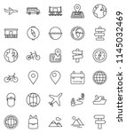 thin line vector icon set  ... | Shutterstock .eps vector #1145032469