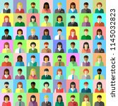 diverse business people in flat ... | Shutterstock .eps vector #1145032823