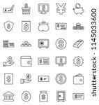thin line vector icon set  ...   Shutterstock .eps vector #1145033600