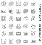 thin line vector icon set  ...   Shutterstock .eps vector #1145033630