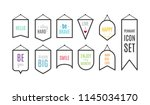pennant icon set with... | Shutterstock .eps vector #1145034170